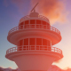 Radar Tower at Sunset - VideoHive Item for Sale