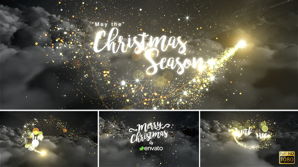 Christmas Opener with magic particle reveal After Effects Full HD Video Template