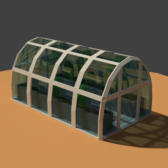 Low Poly Greenhouse - 3DOcean Item for Sale