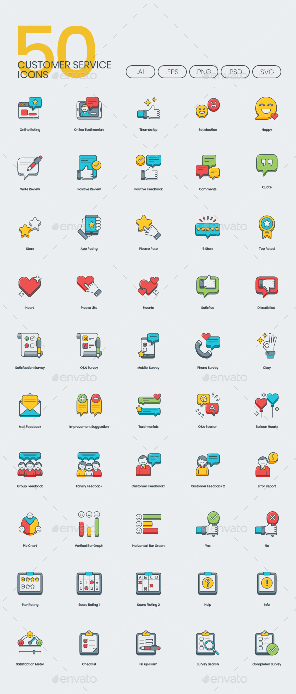 Customer Service Icons - Icons
