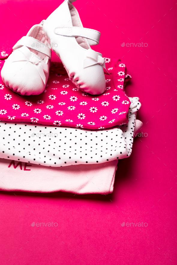 Folded pink bodysuit - Stock Photo - Images