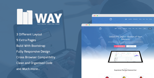 Image of Way - Software Landing Page