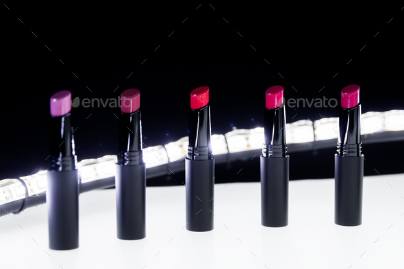 Set of matte Lipstick  - Stock Photo - Images