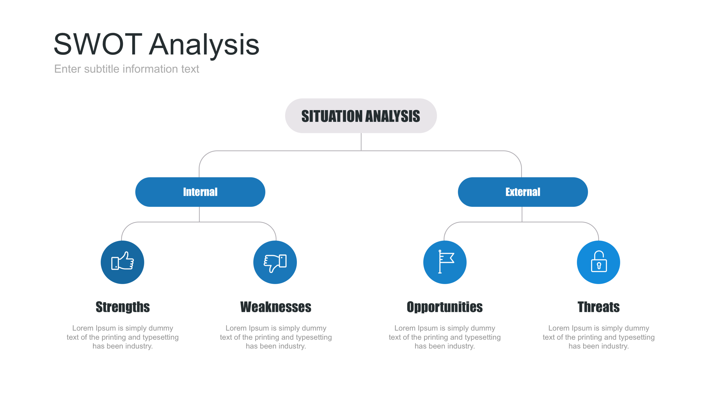 Swot Analysis Keynote Template By Site2max Graphicriver