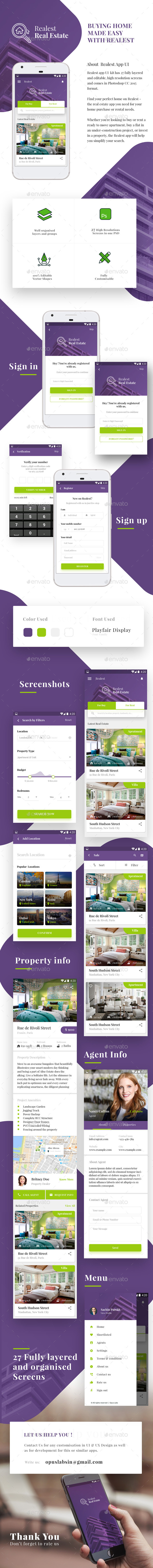 GraphicRiver Real Estate App Android & iOS UI Realest 20910009