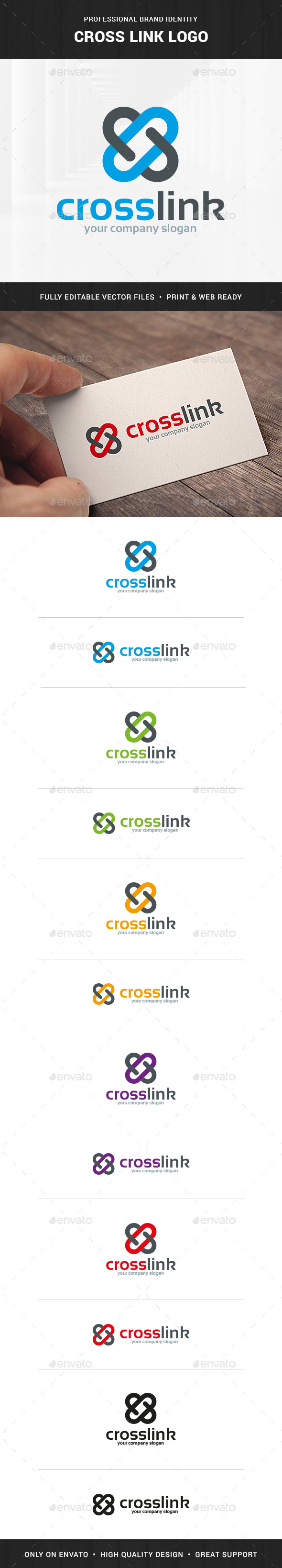 Cross Link Logo Template - Abstract Logo Templates