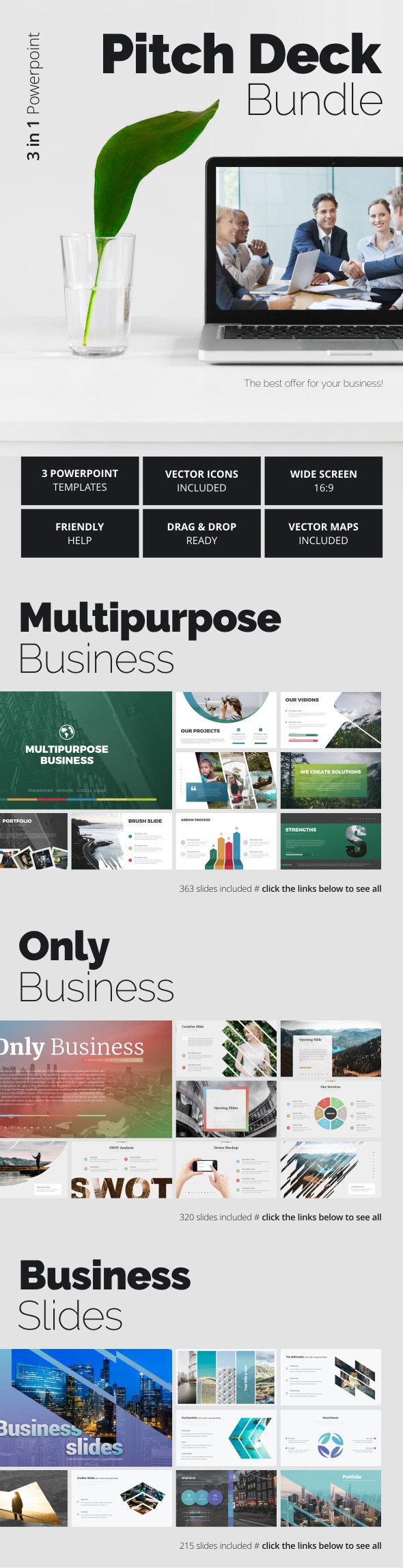 Pitch Deck Bundle - Pitch Deck PowerPoint Templates