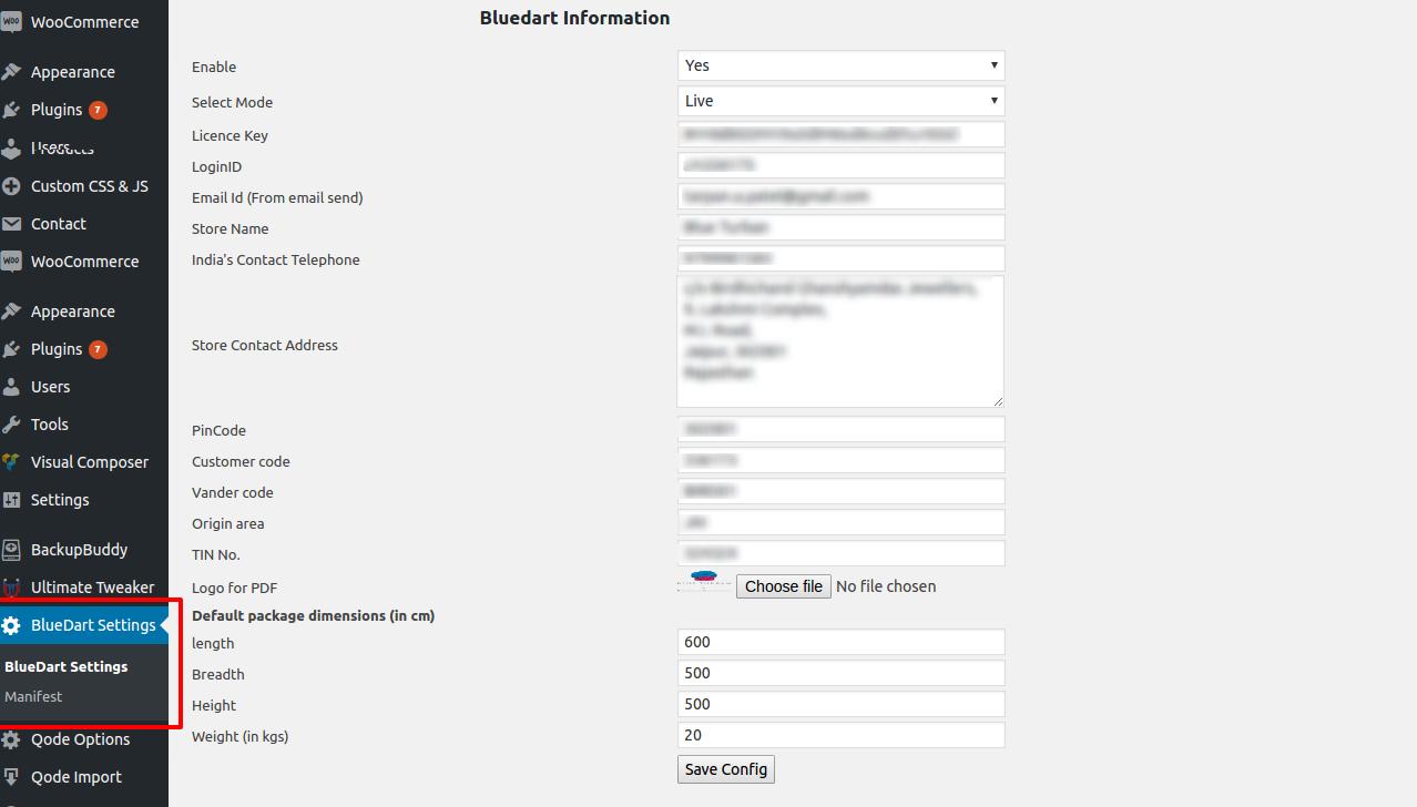 Blue Dart Premium Shipping Integration in WooCommerce