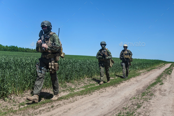 jagdkommando soldiers special forces - Stock Photo - Images