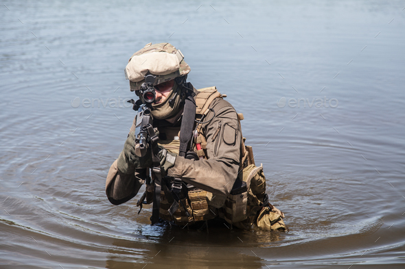 special forces in the water - Stock Photo - Images