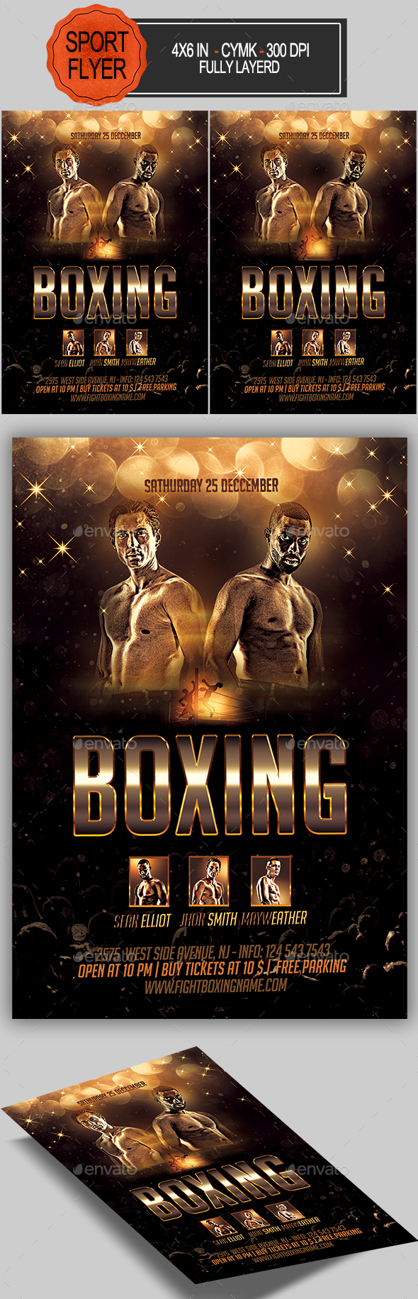GraphicRiver Boxing Flyer 20899759