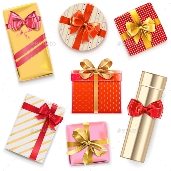 Vector Glossy Gift Boxes - Miscellaneous Seasons/Holidays