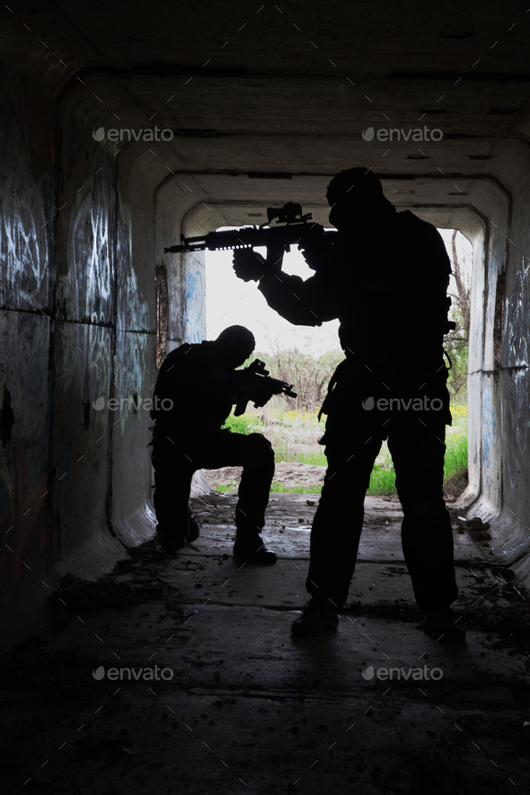 in the tunnel - Stock Photo - Images