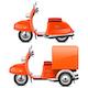 Vector Orange Scooters