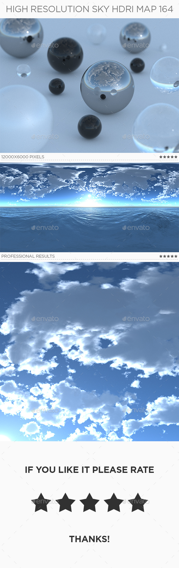 High Resolution Sky HDRi Map 164 - 3DOcean Item for Sale