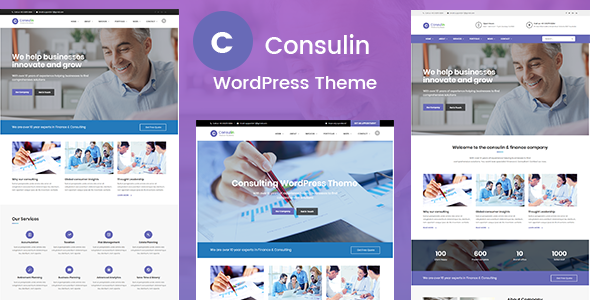 ThemeForest Consulin Consultant Finance WordPress Theme 20705029