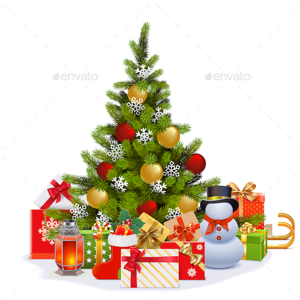 Vector Christmas Fir Tree - Christmas Seasons/Holidays