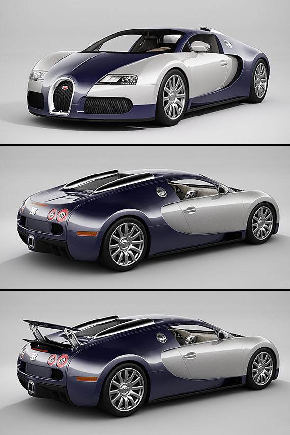 3DOcean Bugatti Veyron LowPoly 20910933