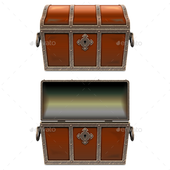 GraphicRiver Vector Old Fairy Chest 20910954