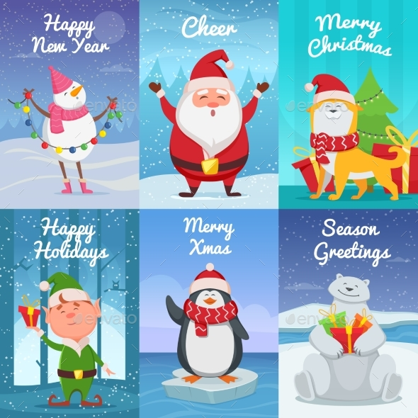 Christmas Cards with Characters - Miscellaneous Seasons/Holidays