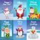 Christmas Cards with Characters - GraphicRiver Item for Sale