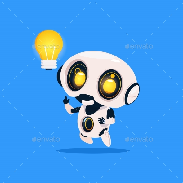 GraphicRiver Robot Hold Light Bulb 20911867