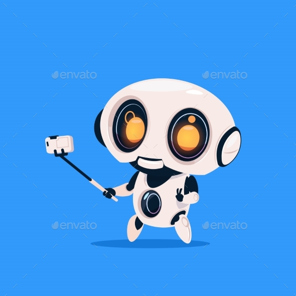 GraphicRiver Robot Takes Selfie 20911878