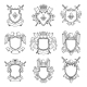 Template of Heraldic Emblems for Different Design