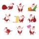Christmas Symbols of Santa.