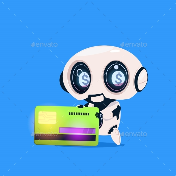 GraphicRiver Robot Holds Credit Card 20911927