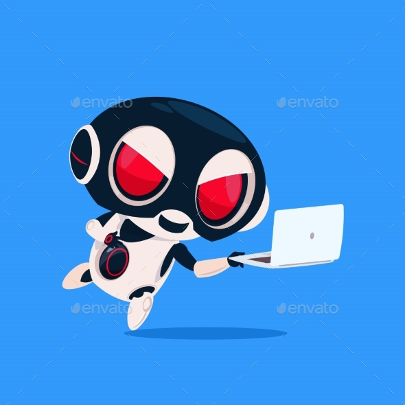 GraphicRiver Robot Wears Hacker Mask 20911969
