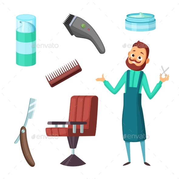 GraphicRiver Barber at Work 20911982