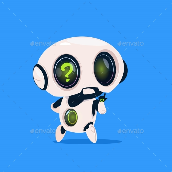 GraphicRiver Robot with Question Mark 20911986