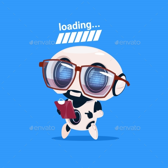 GraphicRiver Robot Loading Wearing Glasses 20911991