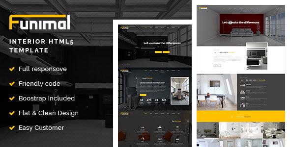 Funimal - Premium Furniture/Interior HTML Template - Corporate Site Templates