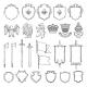 Medieval Heraldic Symbols Isolate on White
