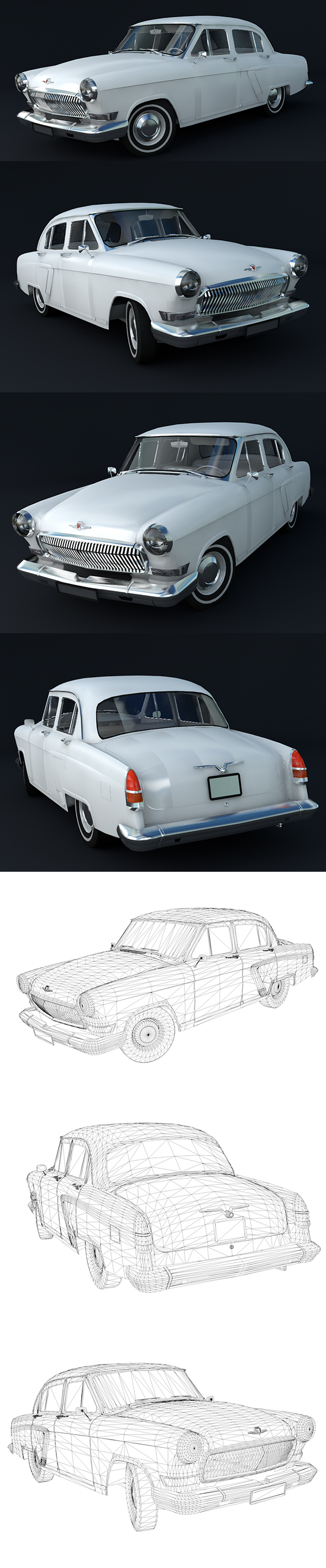 Volga Gaz 23 - Full Textures with Full details - 3DOcean Item for Sale