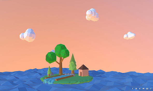 Low-poly island in the see - 3DOcean Item for Sale