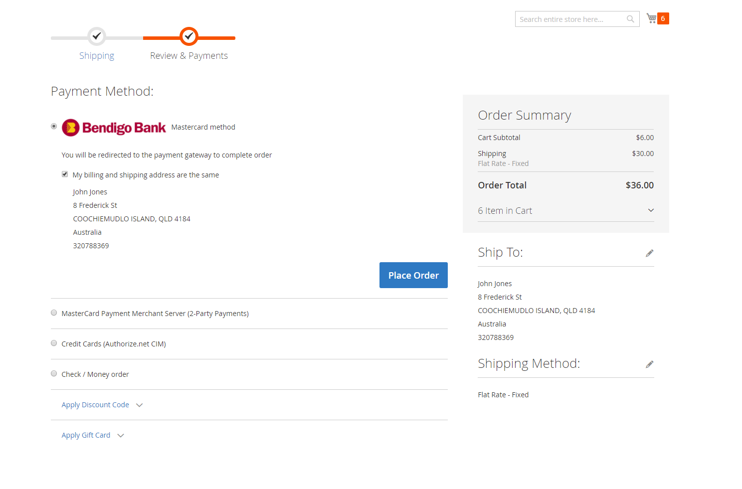 how to add a payment method to facebook shop