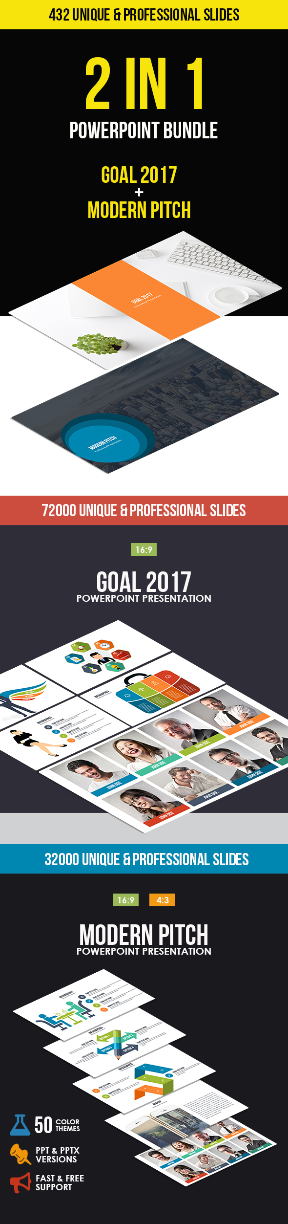 GraphicRiver 2 In 1 Pitch Deck Powerpoint Bundle 20912289