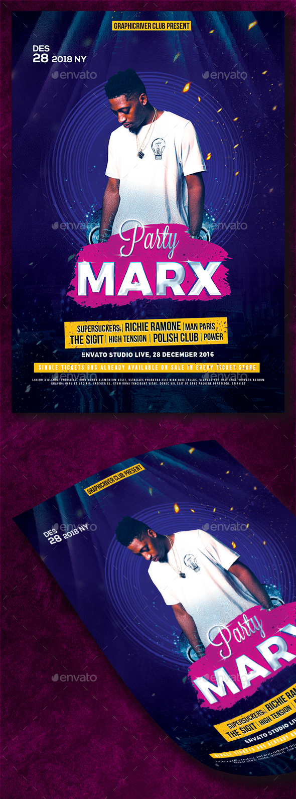 GraphicRiver Party Marx Flyer 20912321