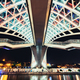 Detail view of Peace bridge in Tbilisi at night, Georgia - PhotoDune Item for Sale