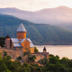 Scenic view of Ananuri fortress in Georgia - PhotoDune Item for Sale