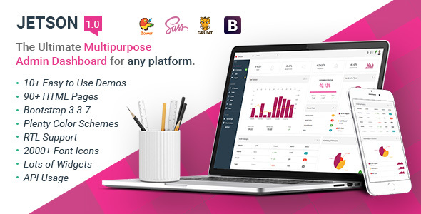 Download Jetson - Multipurpose Bootstrap Admin Dashboard Template + UI Kit            nulled nulled version