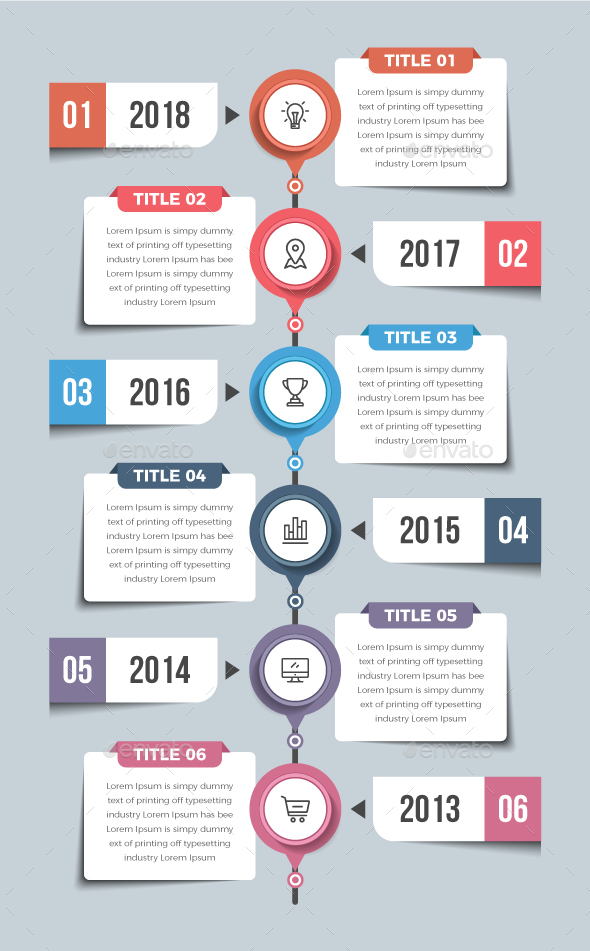 GraphicRiver Vertical Timeline Infographics 20912484