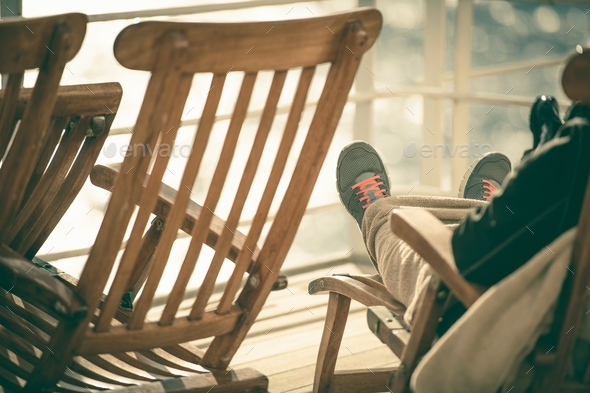 Cruise Deckchair Relaxing - Stock Photo - Images