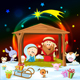 Christmas Nativity with Lights and Animals - GraphicRiver Item for Sale