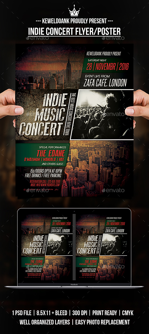 GraphicRiver Indie Concert Flyer Poster 20912786