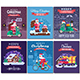 Christmas Cards Set with Santa Delivering Gifts - GraphicRiver Item for Sale