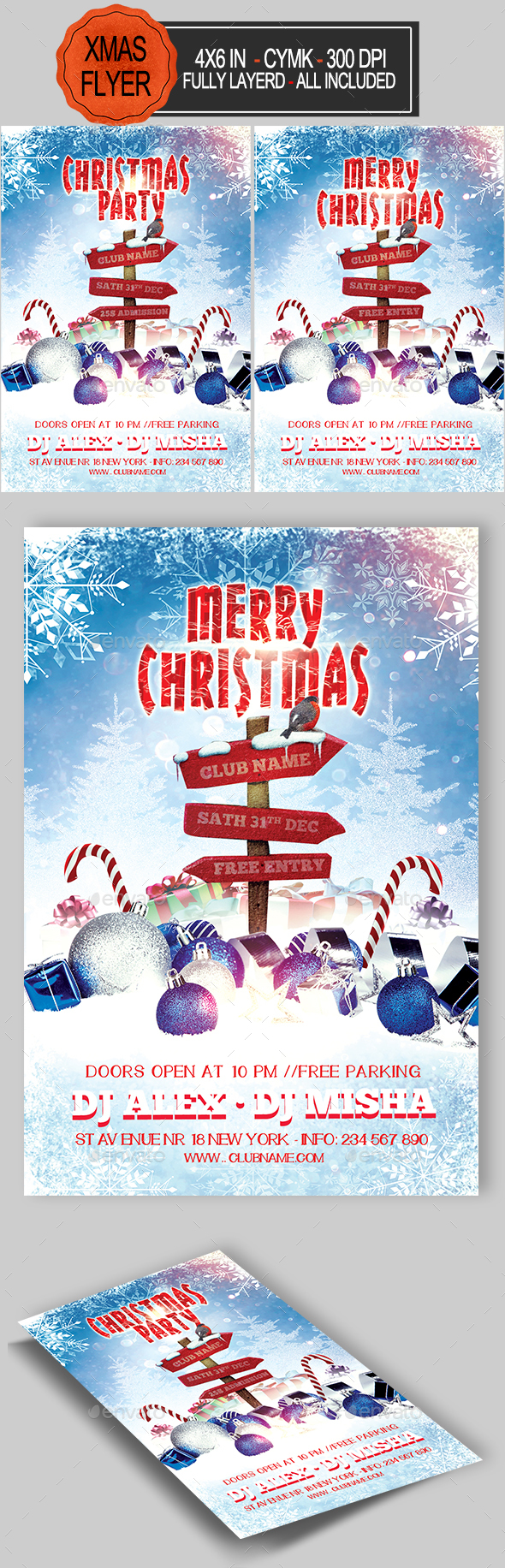 GraphicRiver Christmas Flyer 20912818